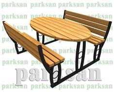 Ahşap & Metal Piknik Masaları