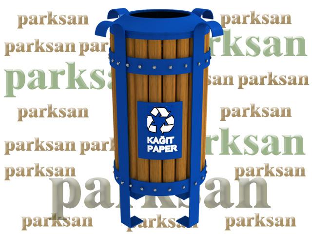 Ahşap Dış Mekan Çöp Kovaları / Dış Mekan Ahşap Geri Dönüşüm Çöp Kovası PA - ÇK41