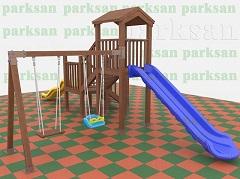 Ahşap Çocuk Oyun Parkı  (Eko  Seri) PA - OP03