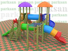 Ahşap Çocuk Oyun Parkı  (Klasik Seri)  PA - OP61