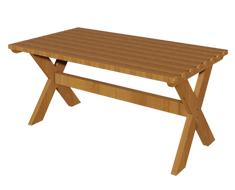 Ahşap Dikdörtgen Bahçe Masası PA - BM0090