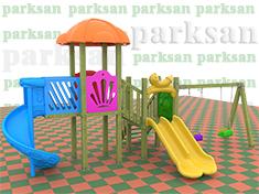 Ahşap Çocuk Oyun Parkı  (Klasik Seri)  PA - OP52