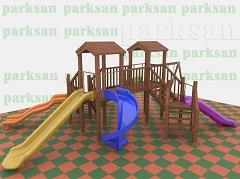 Ahşap Çucuk Oyun Parkı (Eko Seri) PA - OP12