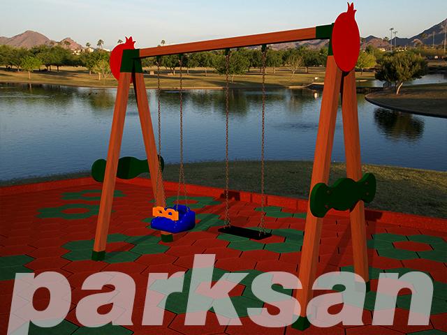 Ahşap Park Ekipmanları / Ahşap Salıncak PA - PE05