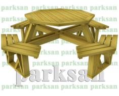 Piknik Masası Ahşap Sekizgen)  PA - P47