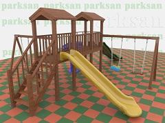 Ahşap Çocuk Oyun Parkı  (Eko  Seri) PA - OP07