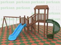 Ahşap Çocuk Oyun Parkı  (Eko  Seri) PA - OP04