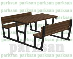 Piknik Masası  (Metal Ayak) PA - P24